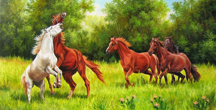 Кони игривые, кони ретивые