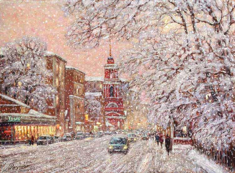 Falling snow on Pjatnickoi.