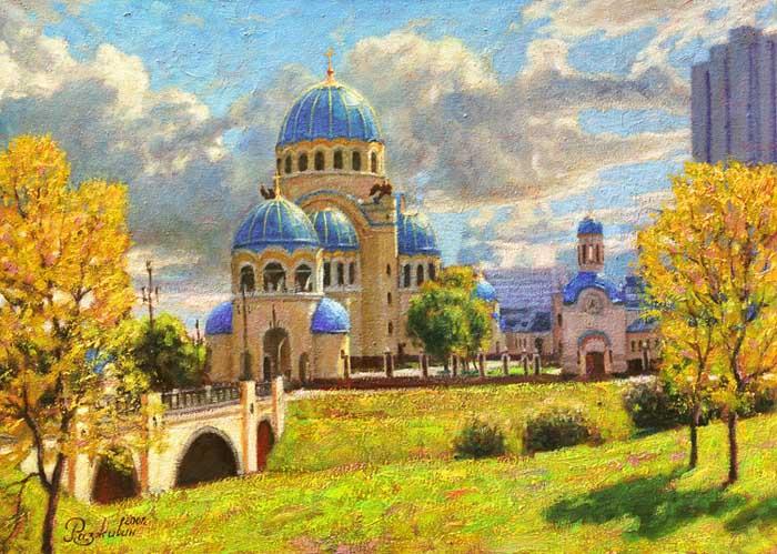 Temple on Borisovskih ponds.