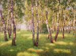 In a shadow of birches.