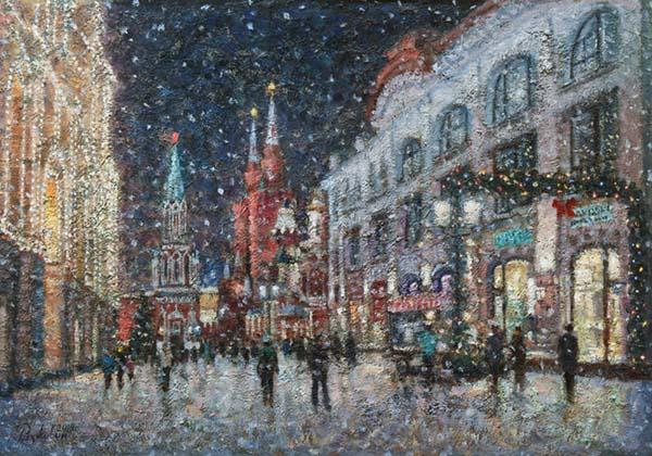 Snow on Nikolskaya.
