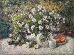 Razzhivin Igor - Still life with flowers in the garden.