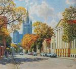 Razzhivin Igor - Autumn streets of Moscow.