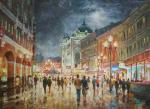 Razzhivin Igor - Walk in the evening Arbat.