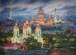 Razzhivin Igor - All paints of evening. St. Petersburg.