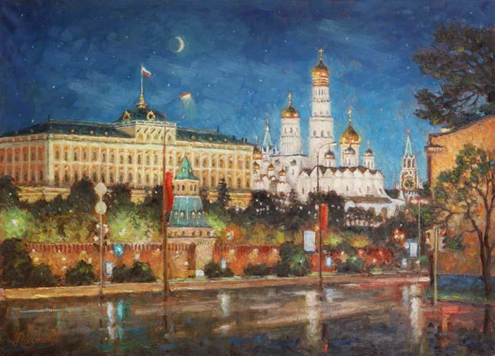 Moonlight night. Moscow.