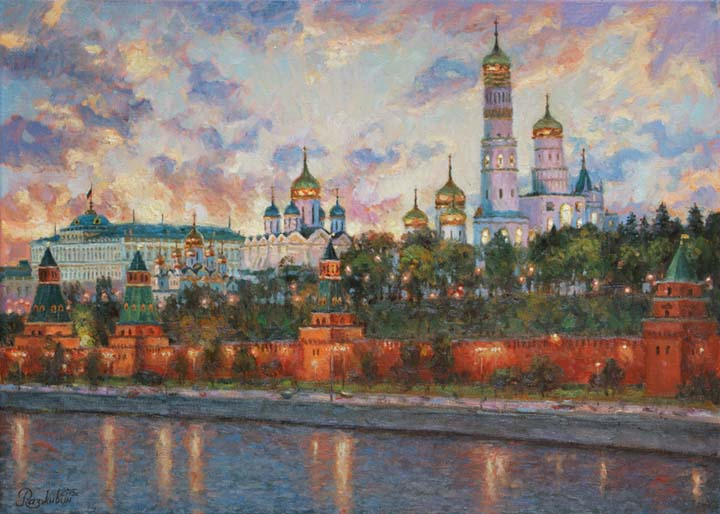 Evening heart of Moscow.