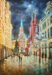 Razzhivin Igor - Evening lights on Nikolskaya.
