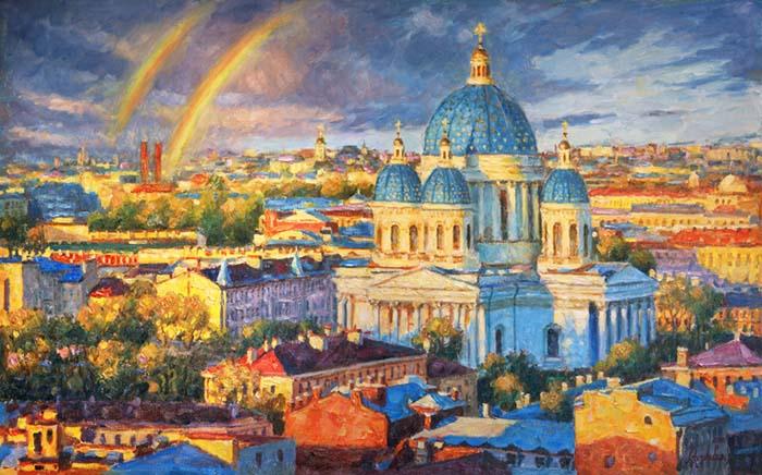 Rainbow mood of the Northern capital