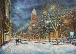 In snowy Moscow