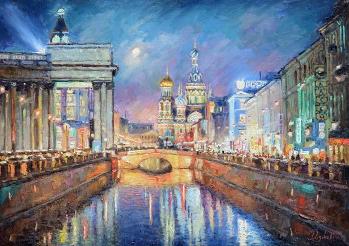 Evening Blues of Petersburg