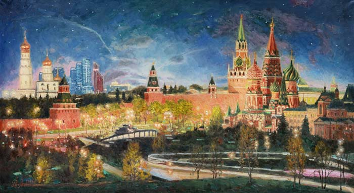 The silence of the night the Kremlin
