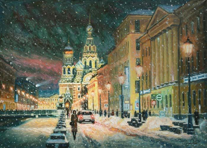Walking in winter St. Petersburg