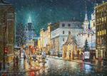 The first snow on Malaya Dmitrovka