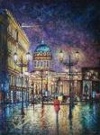 Razzhivin Igor - The evening city is bright and inviting...