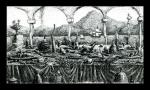 Фролов Владимир - Начало извержения вулкана с проплывающим мимо парусником