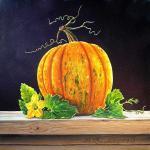 Valevskaya Valentina - Still life with pumpkin