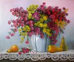 Valevskaya Valentina - Bouquet of chrysanthemums.