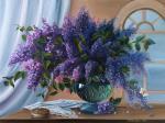 Valevskaya Valentina - Lilacs in a still life.