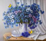 Valevskaya Valentina - A boot and cornflowers.