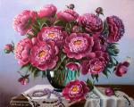 Valevskaya Valentina - Peonies and Pearls.