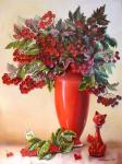 Valevskaya Valentina - Bouquet viburnum.