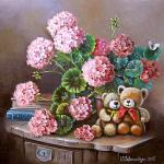 Valevskaya Valentina - Geranium and bears.