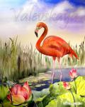 Valevskaya Valentina - Red flamingo
