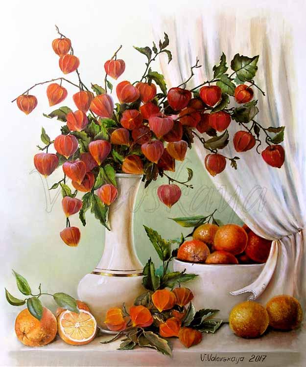 Физалис и апельсины
