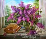 Valevskaya Valentina - Lilac and hat