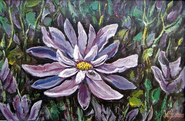 На цветочном лугу.