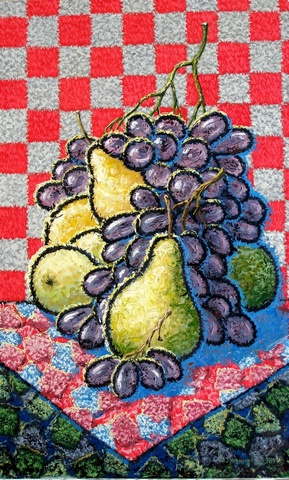Pears and grapes.