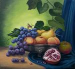 Сизоненко Юрий - Чёрный виноград и фрукты.