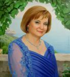 Кишкурно Елена - Женский портрет в синем