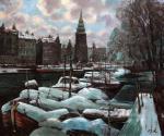Амстердам в снегу