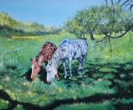 Aronov Aleksey - Horse in Apple orchard