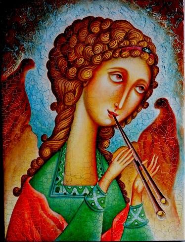 Ангел играющий на дудочке