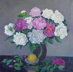 Li Moesey - Peonies and a lemon