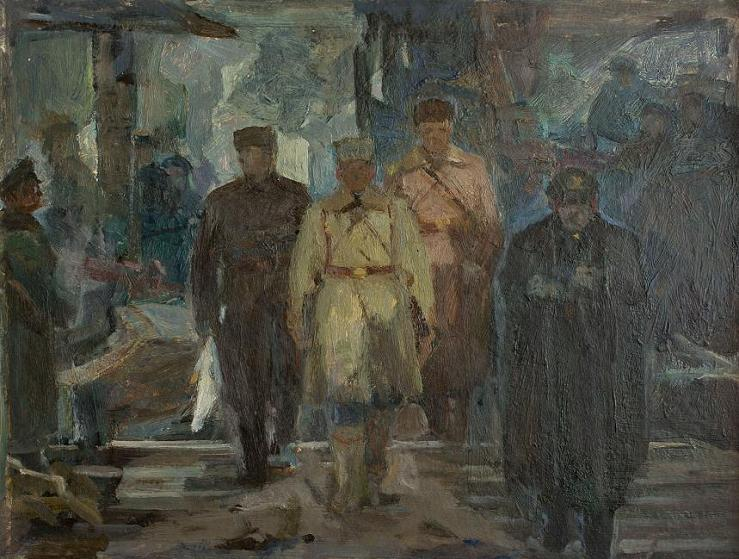 The negotiators at the headquarters of F. Paulus