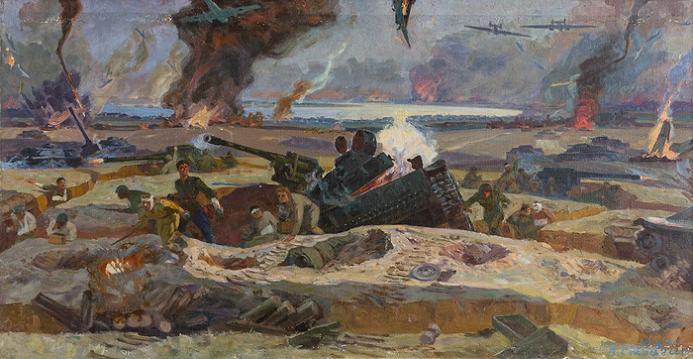 Подвиг артиллеристов 1007 зенитного полка под Сталинградом в 1942 году