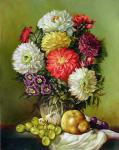 Chtykov Vladimir - Still life with flowers and fruits