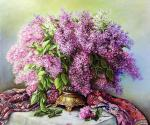 Lilac in a bronze vase