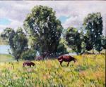 Григорьев Сергей - Марокканский пейзаж с лошадьми