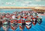 Григорьев Сергей - Лодки в заливе Эль-Жадида. Марокко.
