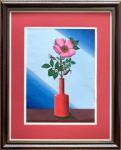 Бурмин Виктор - Цветок шиповника в красной вазе