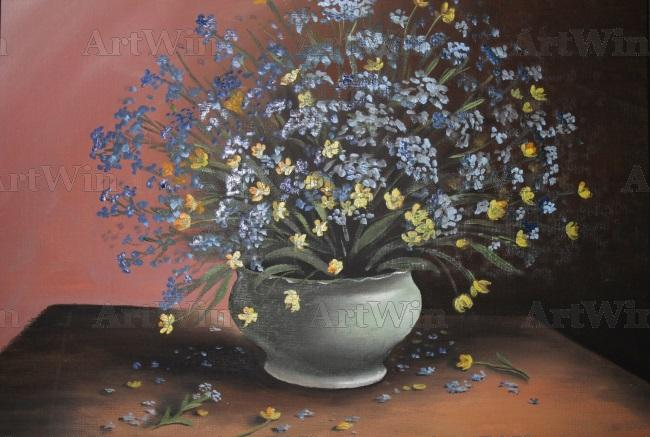 forget-me-Nots in a pot