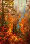 Volosov Vladimir - Landscape in red colours