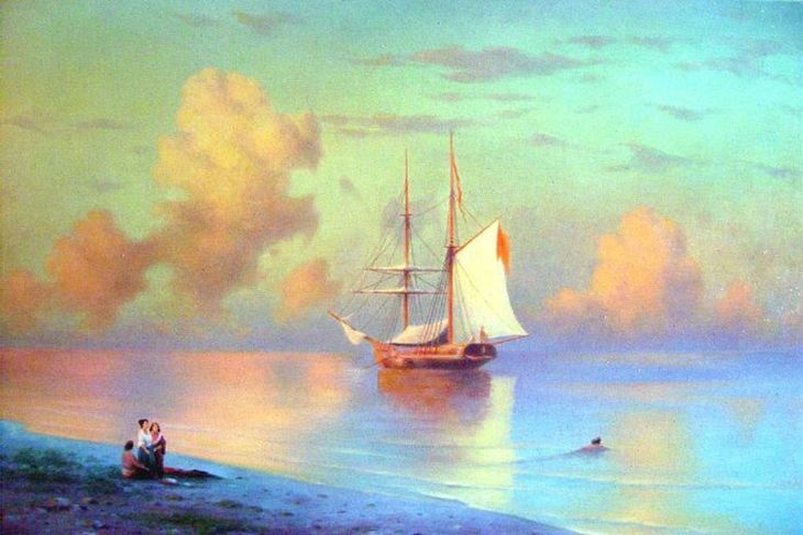 Sunset (copy Aivazovsky).