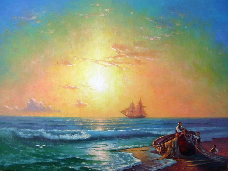 Sunrise at the Coast of Yalta.