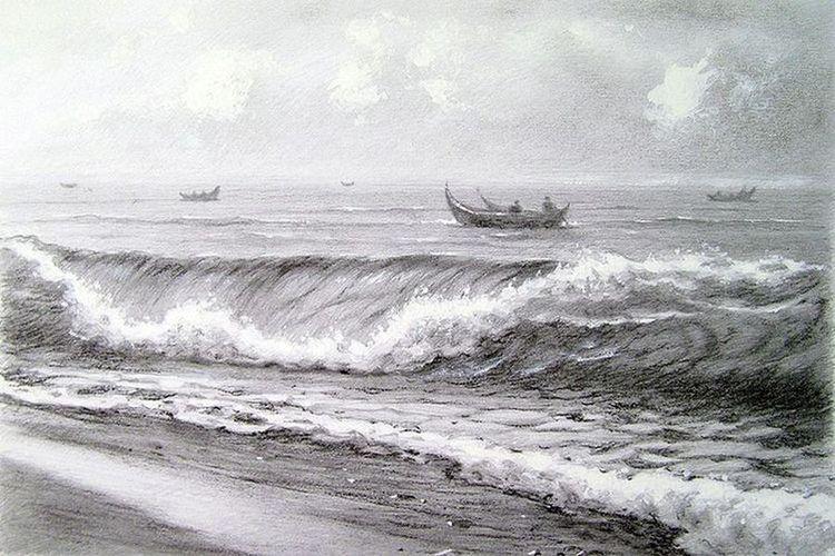 Рыбацкие лодки в Тихом океане.